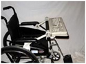 The WorkComfort Tray: attached to wheelchair